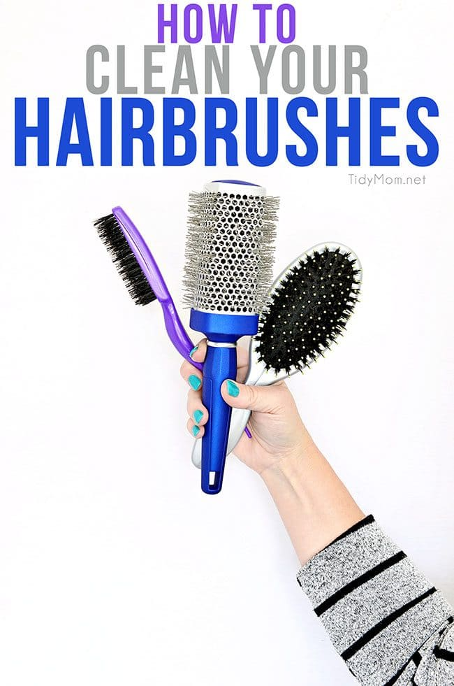 You remember to wash your hair but what about your hairbrush. Learn how to clean hairbrushes and keep your hair healthy at TidyMom.net