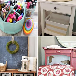 Organize it with these DIY ideas at TidyMom.net