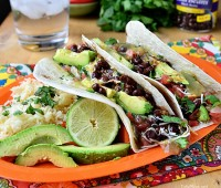 Avocado Tacos with Black Beans recipe at TidyMom.net