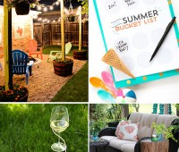Funner Summer Ideas. A round up of summer decor, diy's projects, bucket lists and more! at TidyMom.net