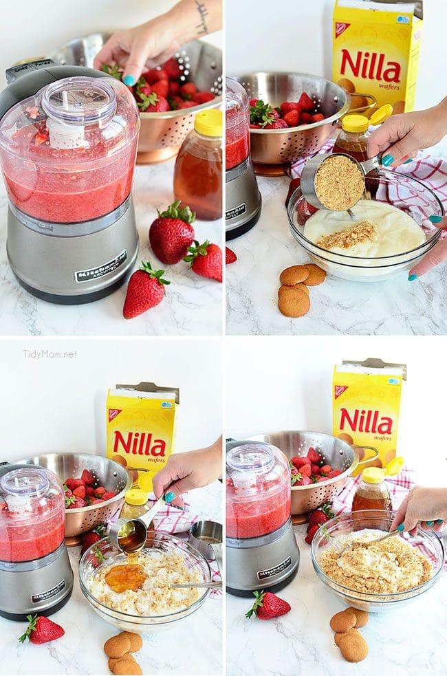 Easy Strawberry Shortcake Yogurt Popsicles recipe at TidyMom.net