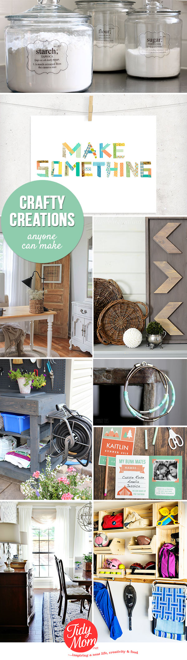 Crafty Creations anyone can make!!  links to craft projects and tutorials at TidyMom.net