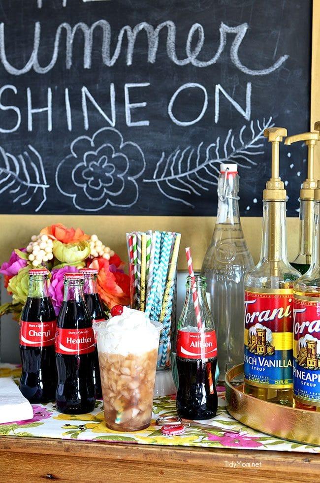 DIY Flavored Coca-Cola Soda Bar at TidyMom.net #shareacoke