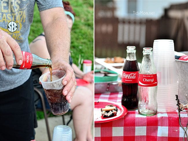 Gourmet S'mores Party + ice cold Coke at TidyMom.net