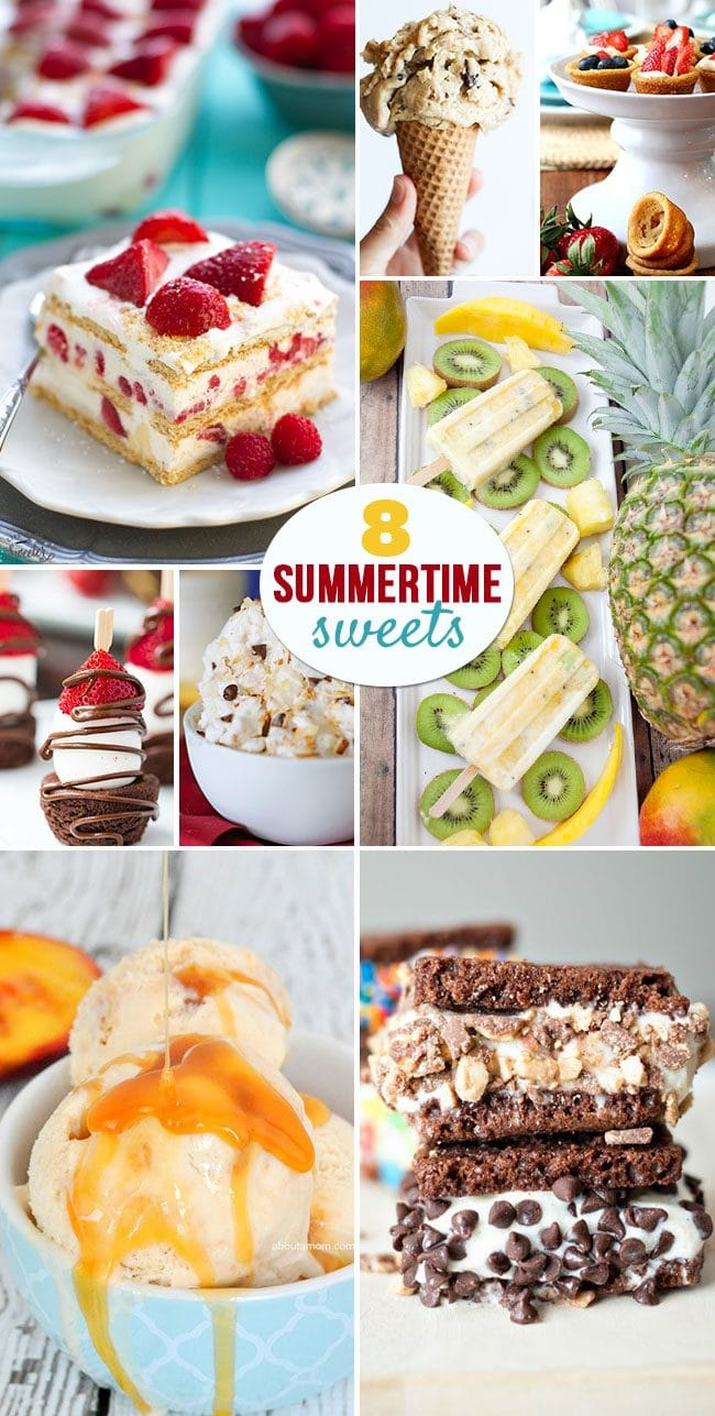 8 Summertime Sweets that are perfect for taking to those BBQs , pool parties and picnics....or just to keep you cool! find out more at TidyMom.net