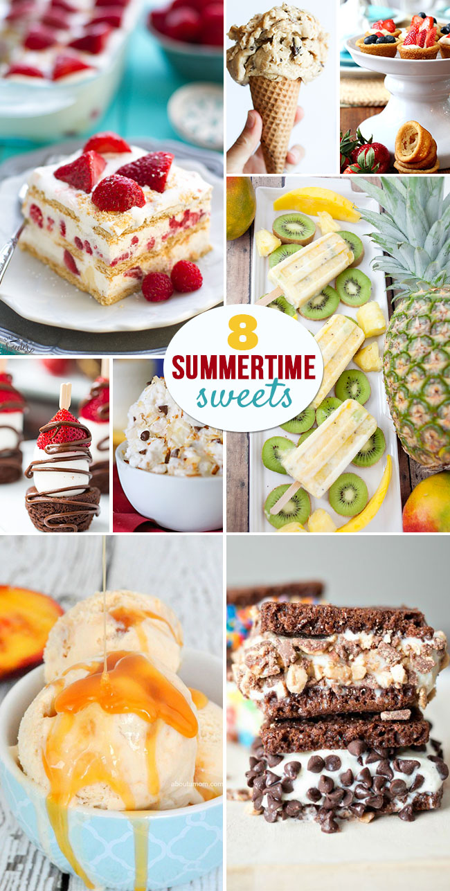 8 Summertime Sweets that are perfect for taking to those BBQs , pool parties and picnics....or just too keep you cool! find out more at TidyMom.net