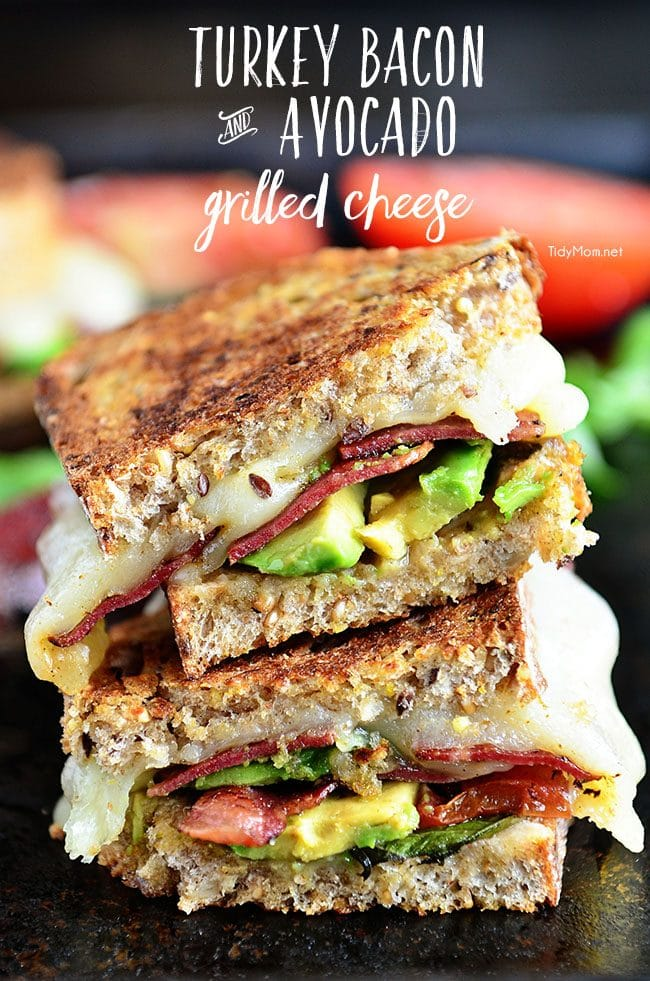 on a grilled cheese. Turkey Bacon and Avocado Grilled Cheese grilled ...