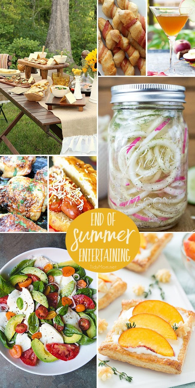 End of Summer Entertaining ideas, recipes and inspiration at TidyMom.net