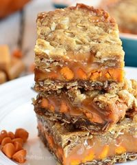Pumpkin Spice Carmelitas recipe at TidyMom.net
