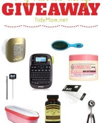 My Favorite Things GIVEAWAY 2015! From a label maker and clear elastic hair ties, to a bluetooth waterproof speaker and body buttercream and more!!