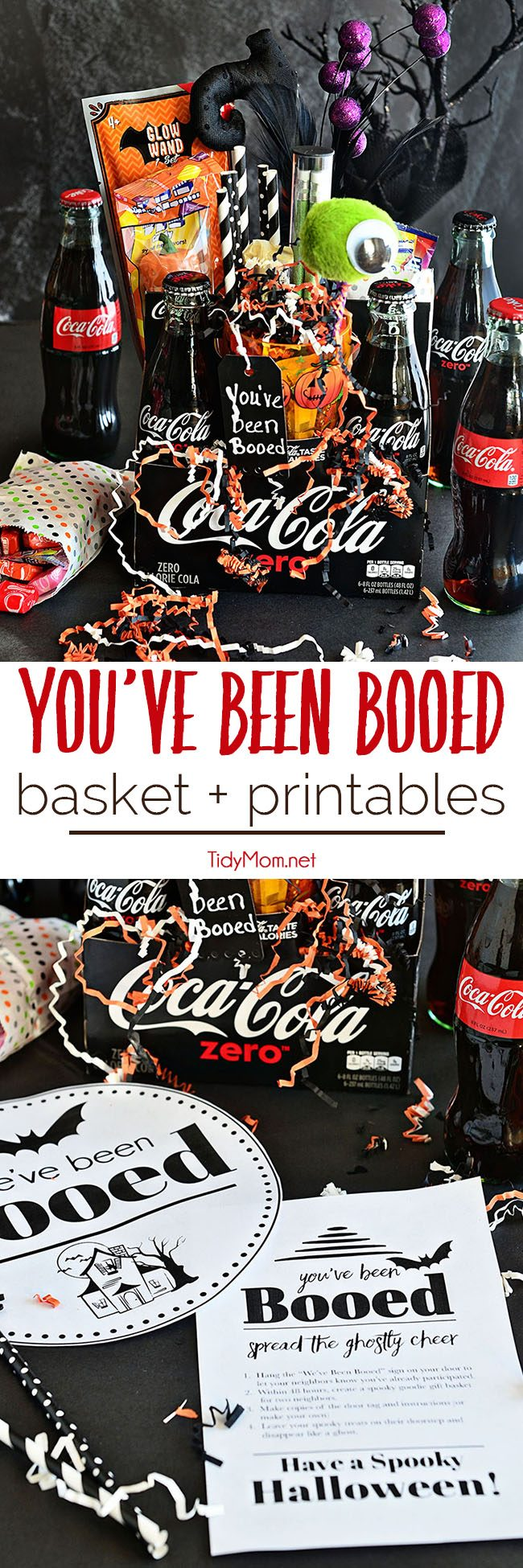 Have fun with your neighbors – You've Been BOOed!  This Halloween surprise is fun way to create excitement and smiles around your neighborhood.You've Been Booed free printables for Halloween Boo Basket at TidyMom.net
