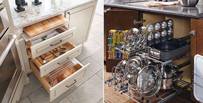 Smart organized kitchen cabinets - Smart kitchen furniture ...
