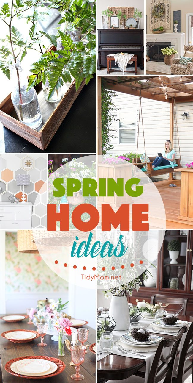 It's a season of renewal! Find 15 Spring Home Ideas that will breath new life into your decor.
