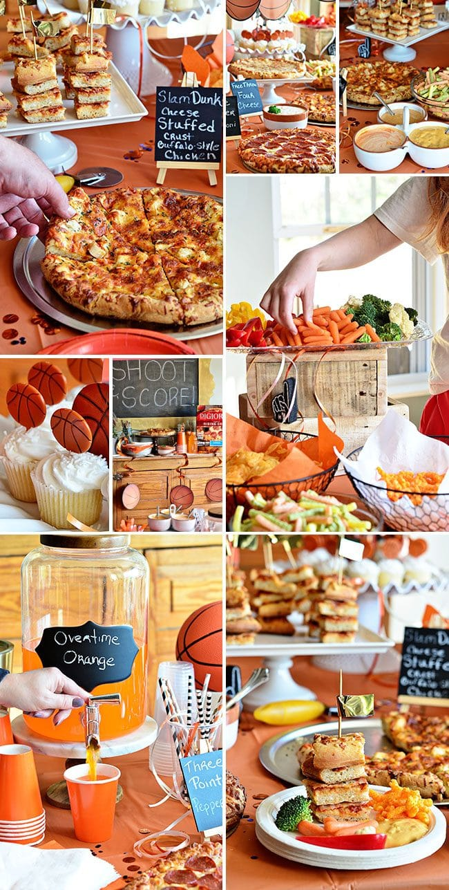 Throw a Basketball tournament watch party at home! Serve oven-readypPizza, several dipping sauces, chips, veggies and cupcakes for stress free planning. ROASTED GARLIC AIOLI RECIPE at TidyMom.net