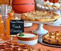 hrow a Basketball tournament watch party at home! Serve DiGIORNO Pizza, several dipping sauces, chips, veggies and cupcakes for stress free planning. ROASTED GARLIC AIOLI RECIPE at TidyMom.net