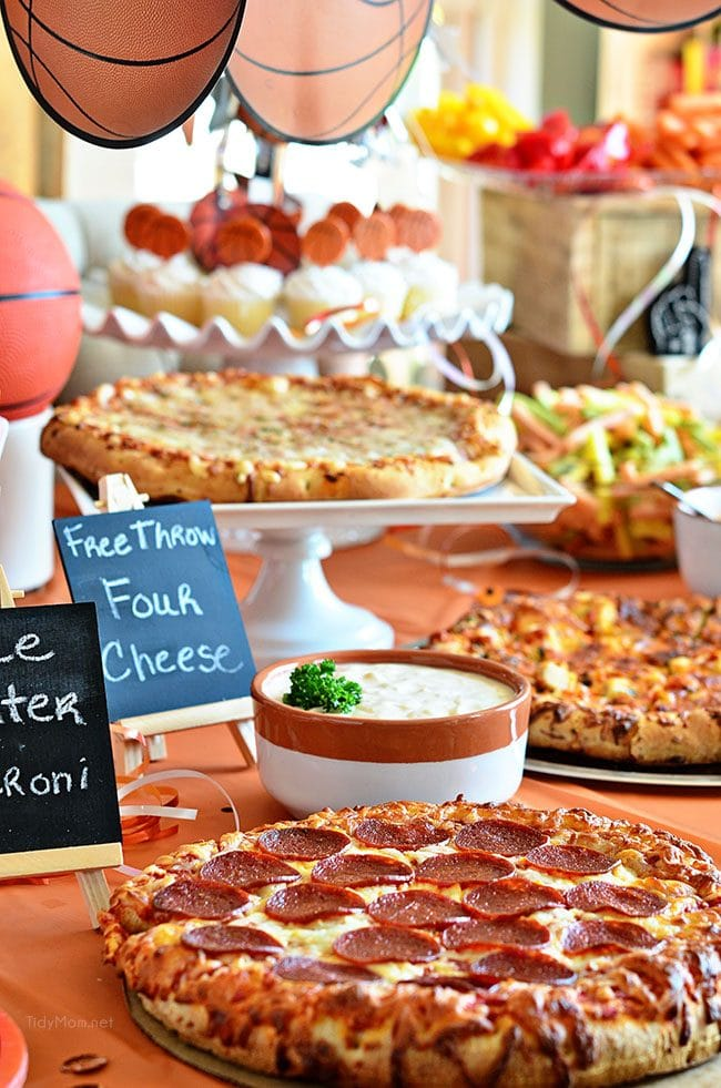 Throw a Basketball tournament watch party at home! Serve oven-ready Pizza, several dipping sauces, chips, veggies and cupcakes for stress free planning. ROASTED GARLIC AIOLI RECIPE at TidyMom.net