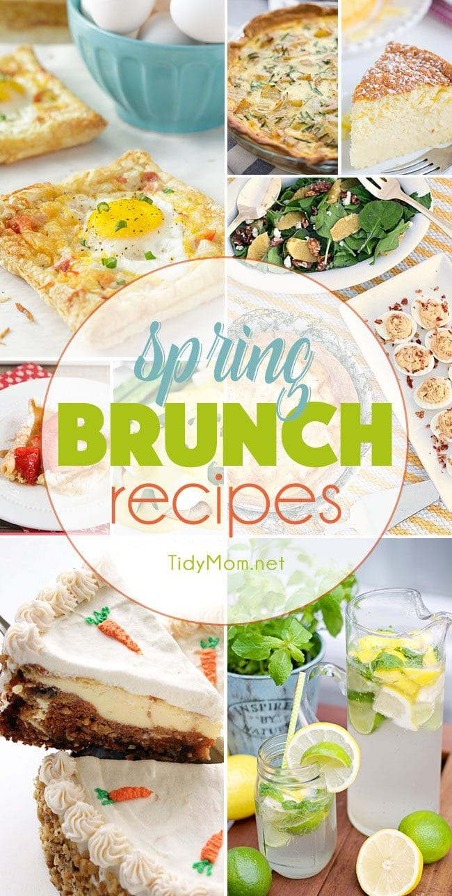 Spring Brunch Recipes at TidyMom.net
