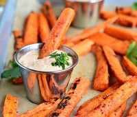 Seasoned Grilled Carrots make a wonderful side dish or snack when served with Chipotle Lime Dip. Print the recipe at TidyMom.net