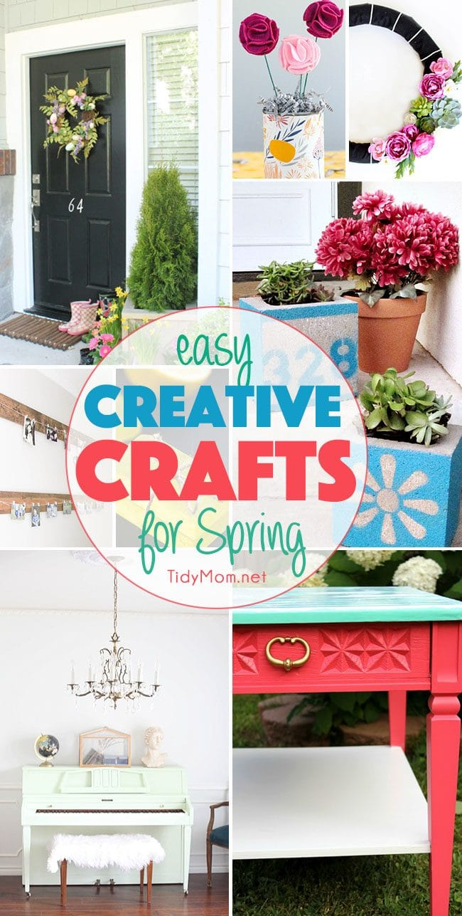 Easy Creative Crafts for Spring.