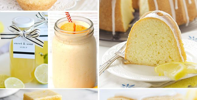 Luscious Lemon Recipes to make this spring and summer!