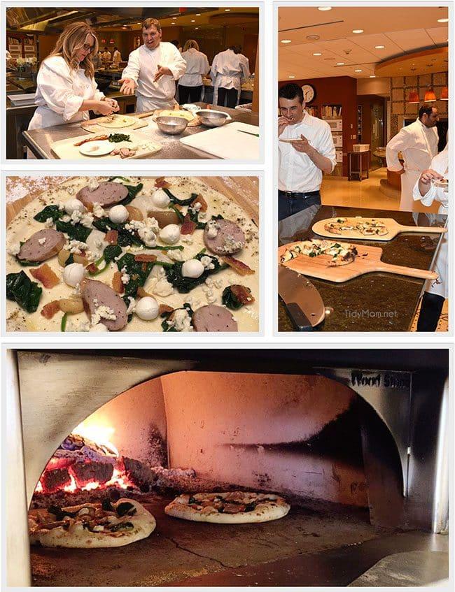 Making pizza in the DIGIORNO kitchen