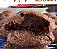 Hot Fudge Filled Chocolate Lava Cookies recipe via TidyMom.net