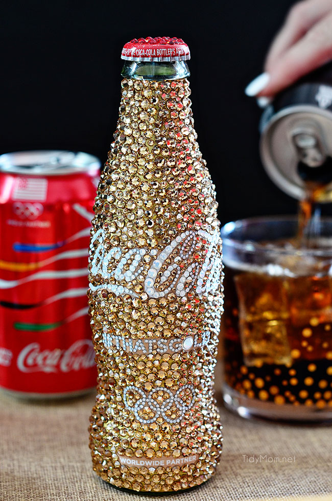 Gold Crystal Coca Cola Bottle
