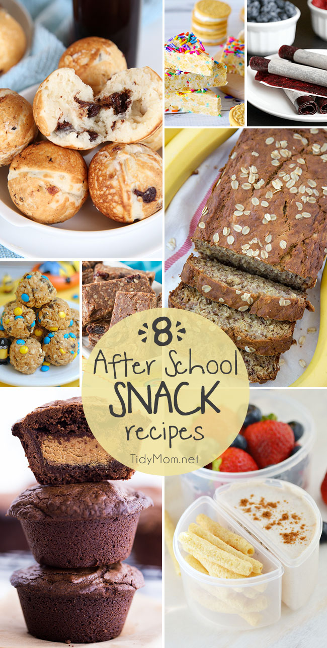 Whether you're looking for a weekend treat or an after school bite, here are 8 HOMEMADE AFTER SCHOOL SNACK RECIPES that kids will love to come home to.