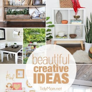 Beautiful Creative Ideas for the home. You'll be inspired to creative something beautiful for your home with these 8 ideas, from a farmhouse table makeover tutorial to a farmhouse dreamcatcher and more!