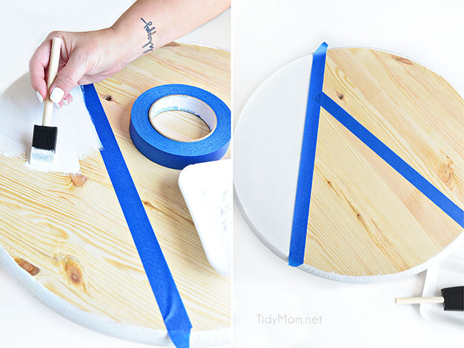 DIY Color Block Tray tutorial steps 3-4