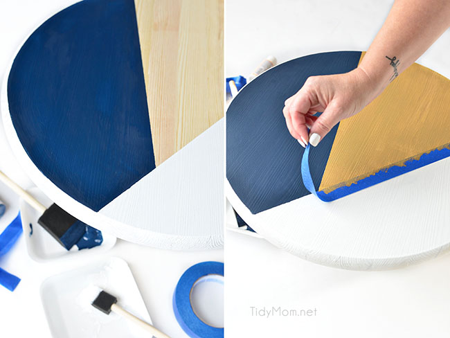DIY Color Block Tray tutorial steps 5-6