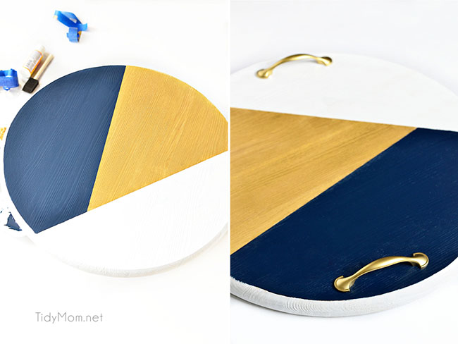 DIY Color Block Tray tutorial steps 7-8