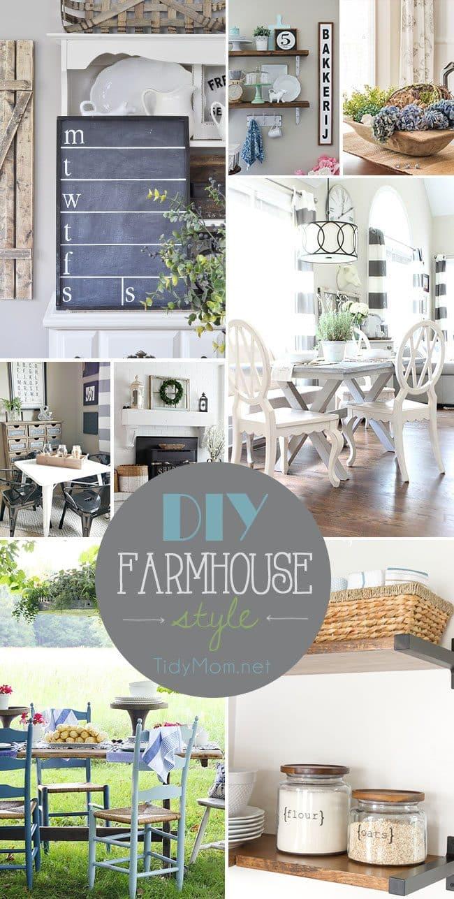 Simple modern farmhouse decorating tidymom - What is farmhouse style ...
