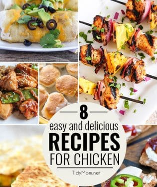 8 Easy and Delicious Recipes for Chicken at TidyMom.net