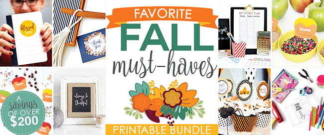 In collaboration with 20+ online stores, we created a jam packed bundle full of our FAVORITE fall digital products. Instead of selling each individually in our own shops, we decided to pull them all together and offer them at an amazing price!
