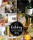 Easy Holiday Entertaining Ideas from a hot cocoa bar, to cocktails and DIY wine charms and more to make holiday entertaining special they'll never know how easy it was!