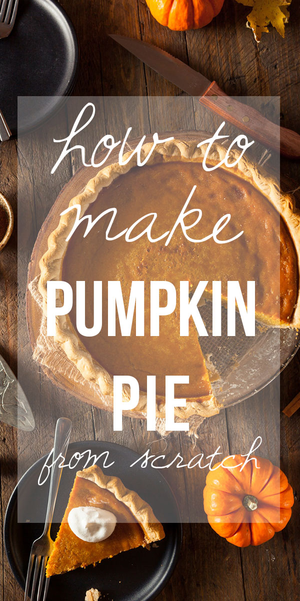 Learn HOW TO MAKE PUMPKIN PIE FROM SCRATCH. Pumpkin pies was not always made from a can of pumpkin. There is an even more old-fashioned way to make this pie, and I am here to tell you, it is VERY much worth the effort!