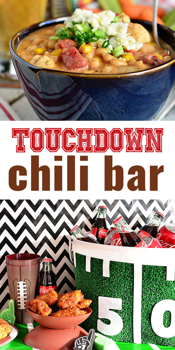 Chili + Football just go together. Next game-day impress your guests with a chili bar for dinner. It's super-fun, casual and surprisingly easy to throw together