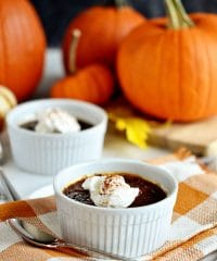 Pumpkin Creme Brulee recipe with molasses at TidyMom.net