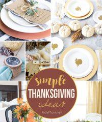 8 Simple Thanksgiving Ideas at TidyMom.net