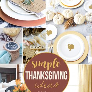 8 Simple Thanksgiving Ideas at TidyMom.net