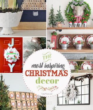 The most inspiring Christmas decor of the season! visit TidyMom.net for details