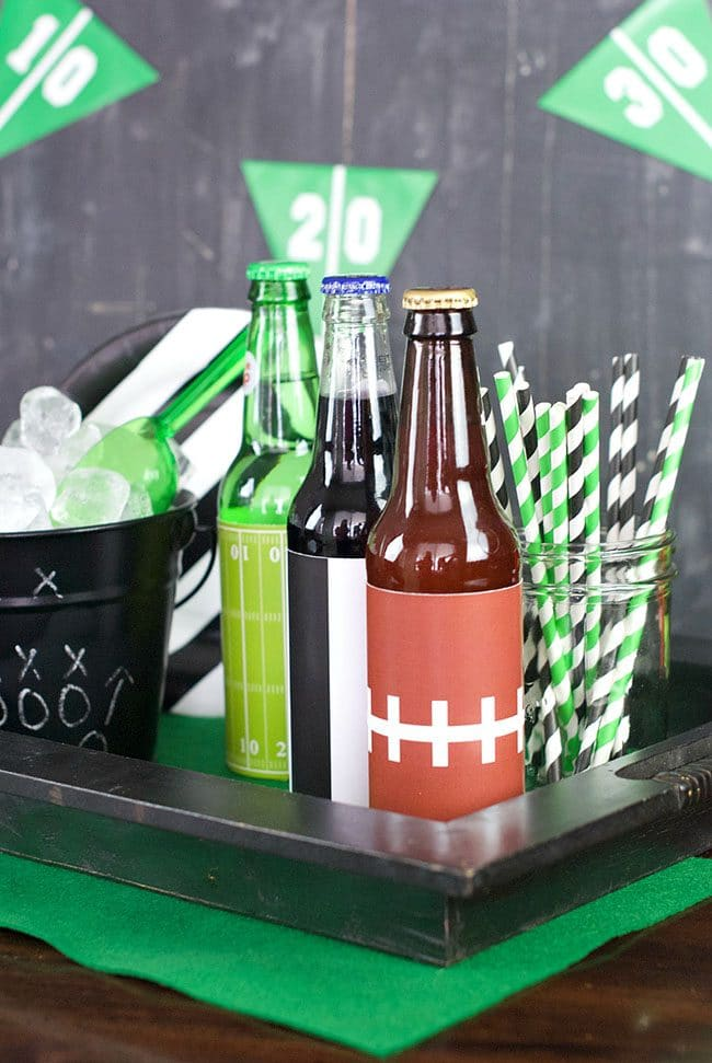 Game Day Party Plan Football Drink Caddy