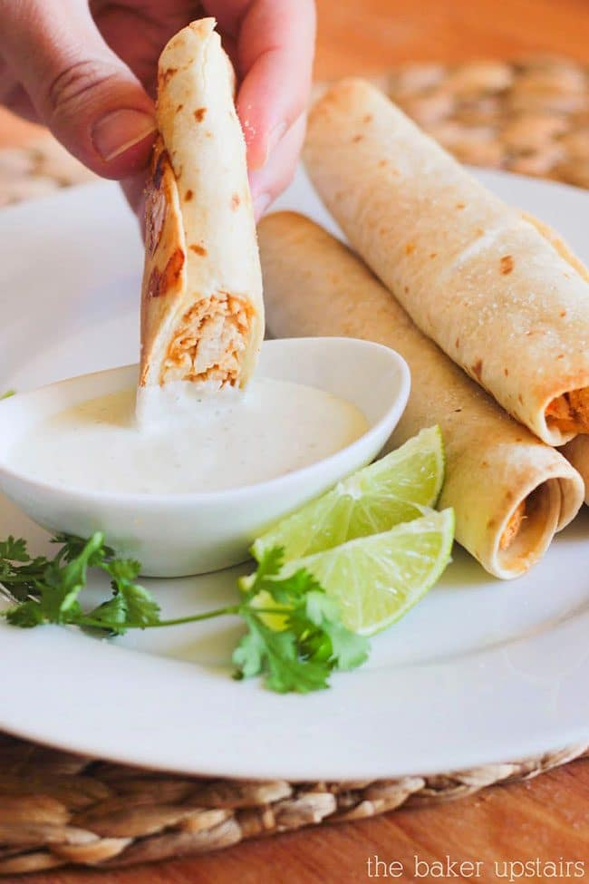 Game Day Party Plan Baked Honey Lime Chicken Taquitos
