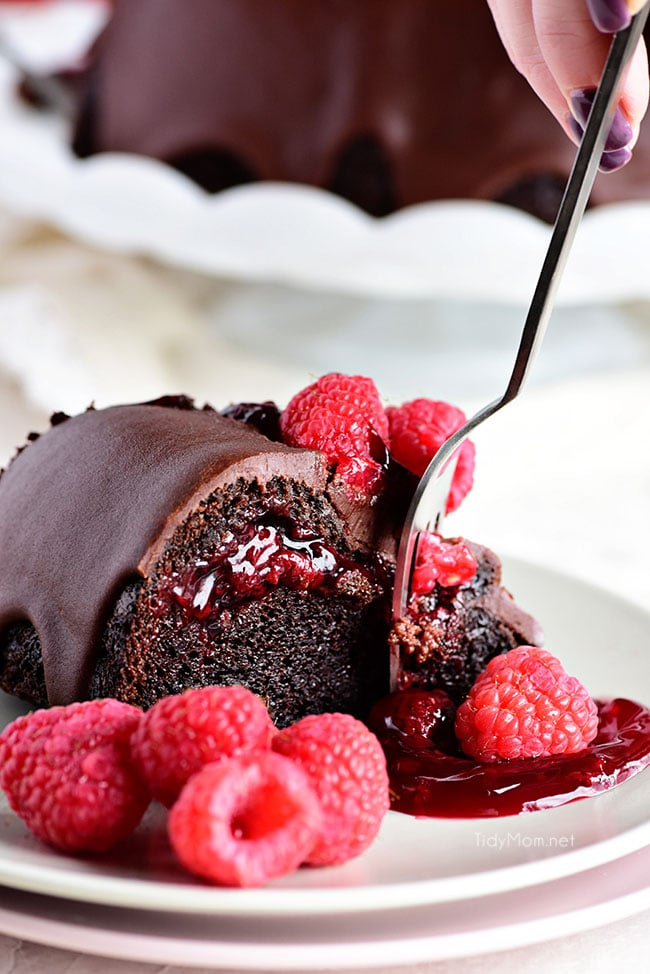 Chocolate Raspberry Chambord Cake
