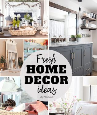 Fresh Home Decor Ideas at TidyMom.net