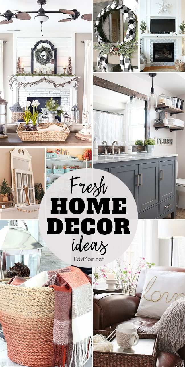 By mid January I'm ready to give my home a good purging and making the spaces feel fresh and new again. Here are 8 Fresh Home Decor Ideas to inspire you. at TidyMom.net