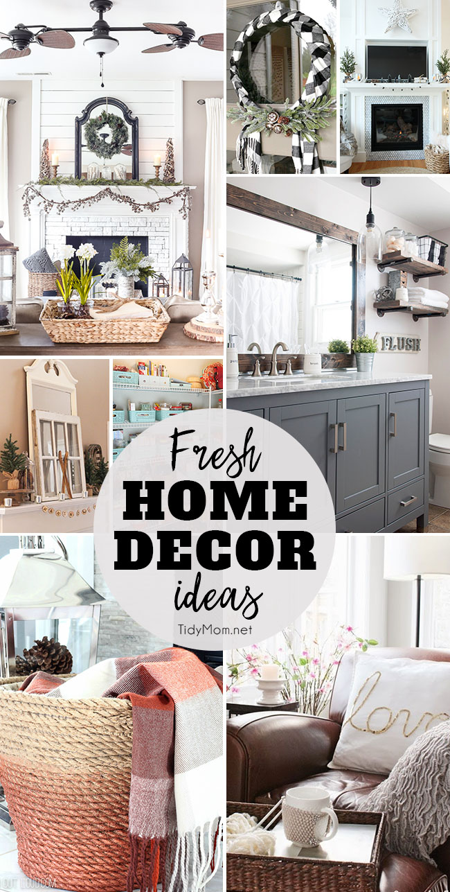Fresh home decor ideas tidymom for Home decorations to make
