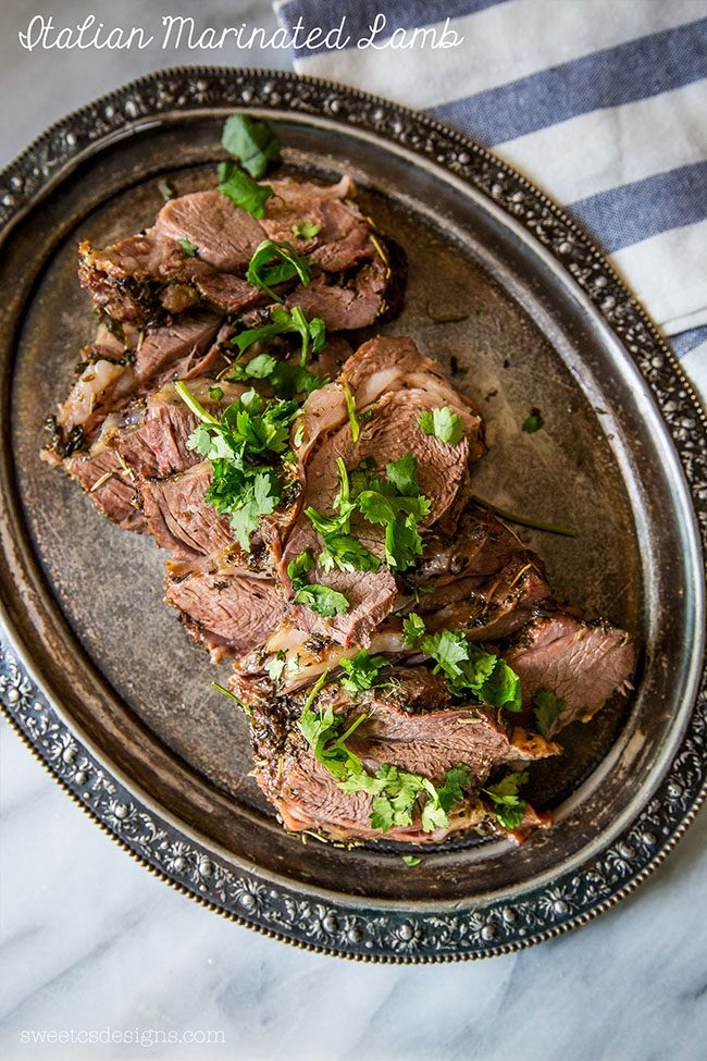 Italian Marinated Lamb | Easter Dinner Meal Plan recipes, printables and decor ideas. Details at TidyMom.net