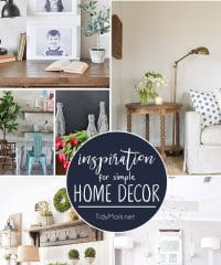 IInspiration for Simple Home Decor from a budget friendly bathroom makeover to decorating with what you already have. Take cues for your own home with simple home decor inspiration at TidyMom.net